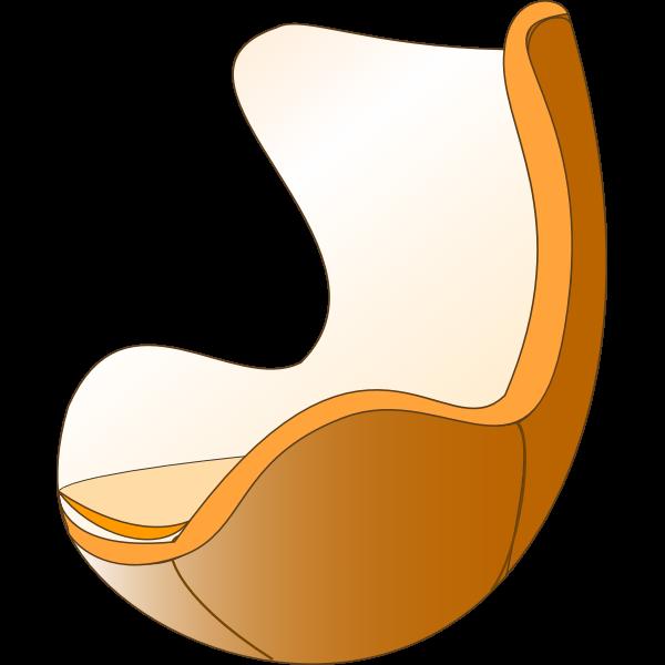 Futuristic chair vector illustration