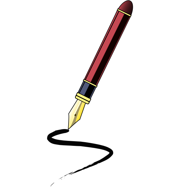 Felt tip pen vector clip art