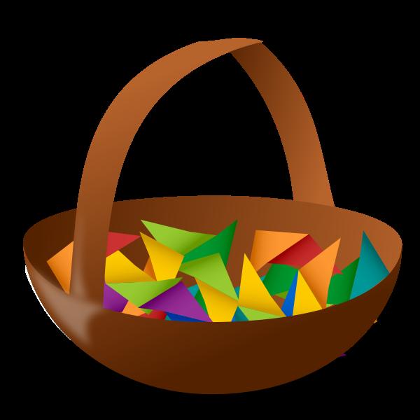 Empty Easter basket vector illustration