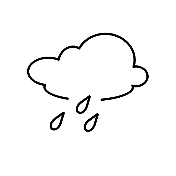 Outline rain sign vector image