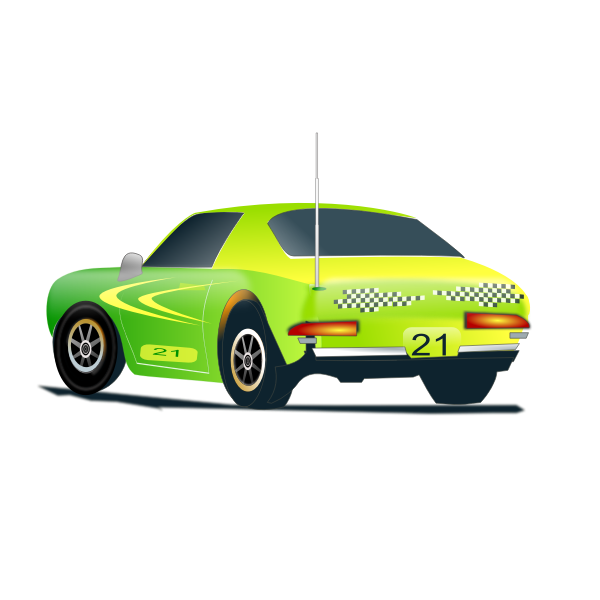Rally car vector illustration