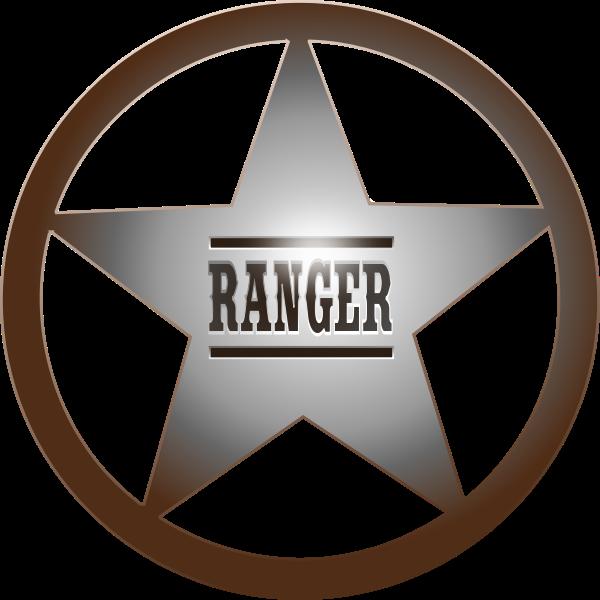 Rangers star vector clip art