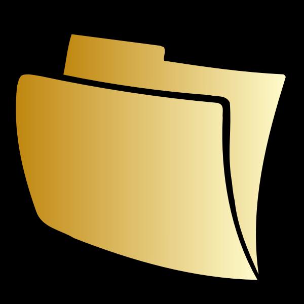 Vector clip art of striped folder icon
