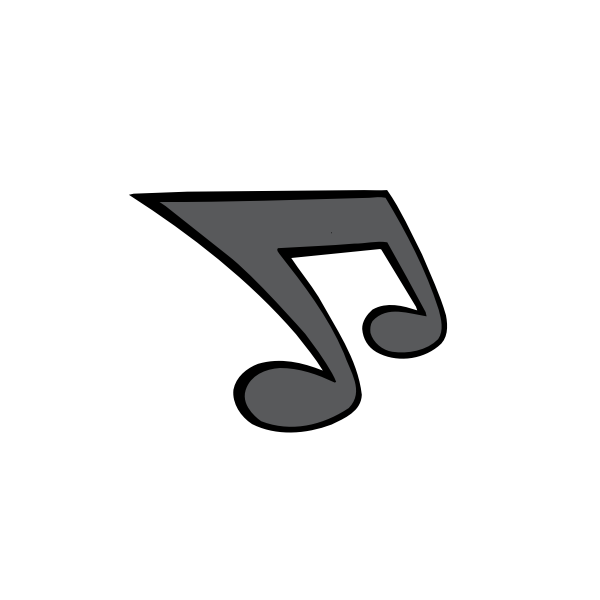 Gray musical note