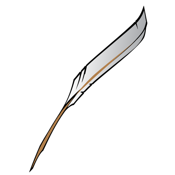 Vector illustration of writing quill