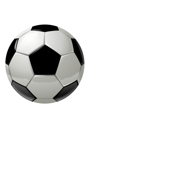 Vector drawing of soccer ball without shadow