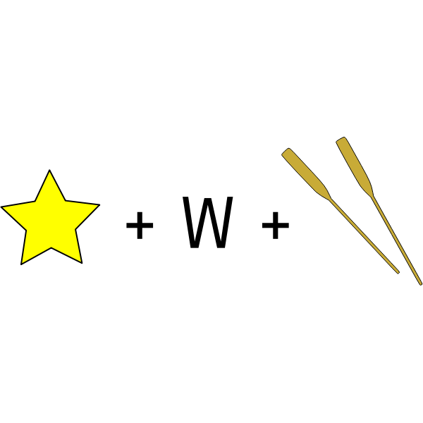 Star Wars movie rebus vector image