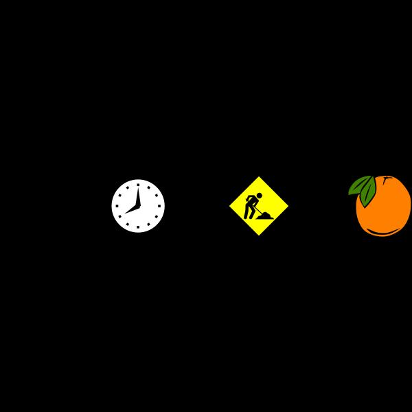 A Clockwork Orange movie rebus vector image