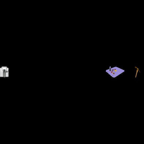 Titanic movie rebus vector illustration