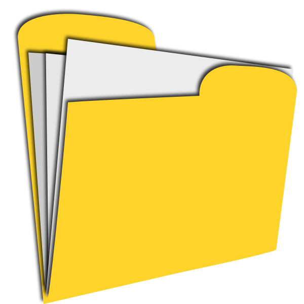Vector graphics of yellow document