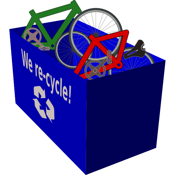 Recycling box blue color
