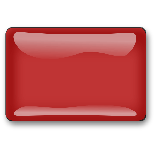 Gloss red button vector illustration