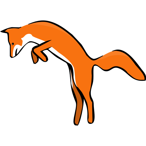 Leaping Red Fox