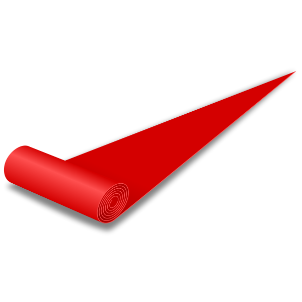 Red carpet vector drawing