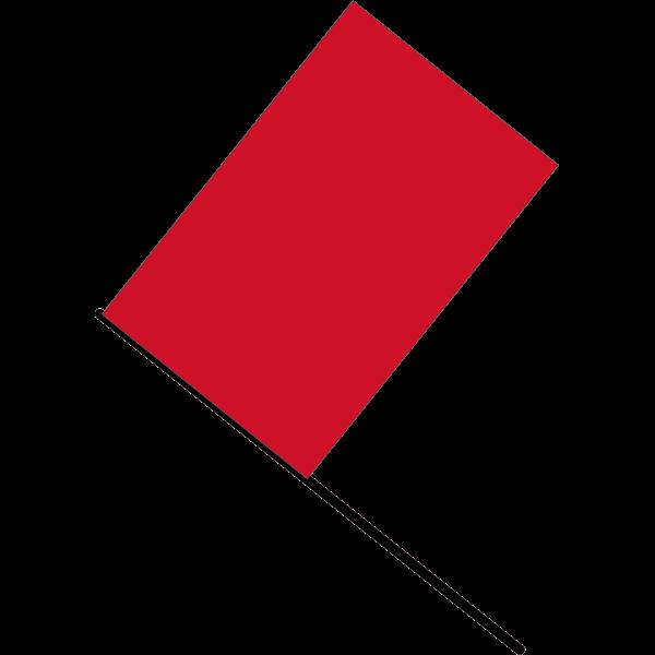 Red flag vector illustration