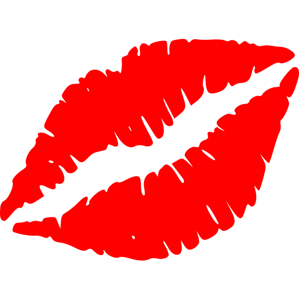 Vector image of lips