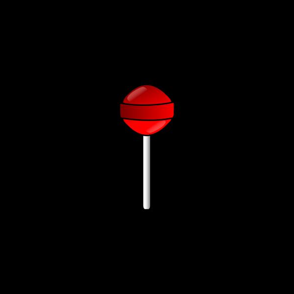Red lollipop vector clip art