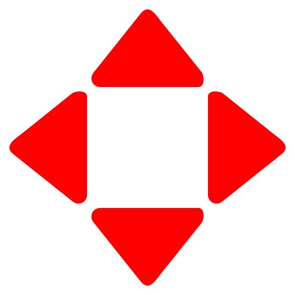 red rounded arrows