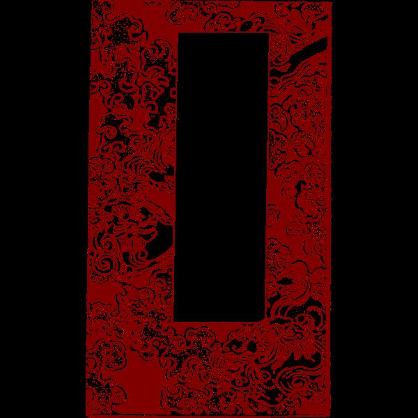 Red asian frame