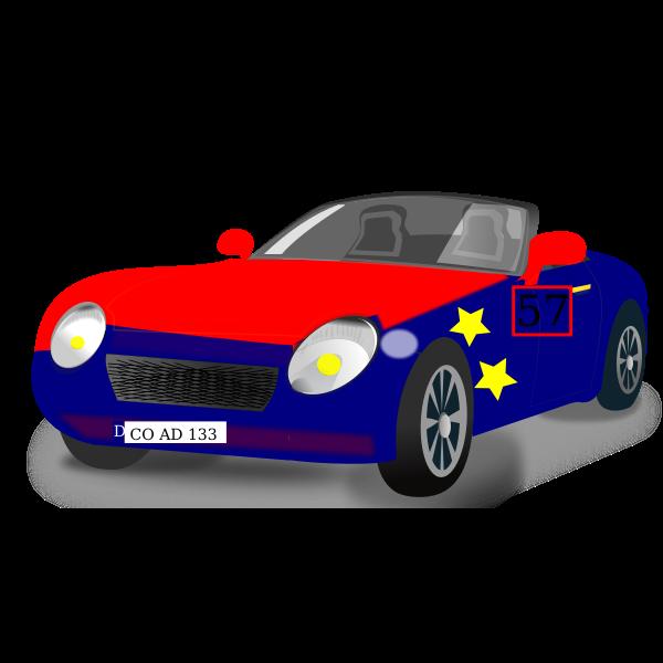 Convertible sports car vector image