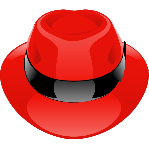 Vector drawing of shiny fantasy red hat