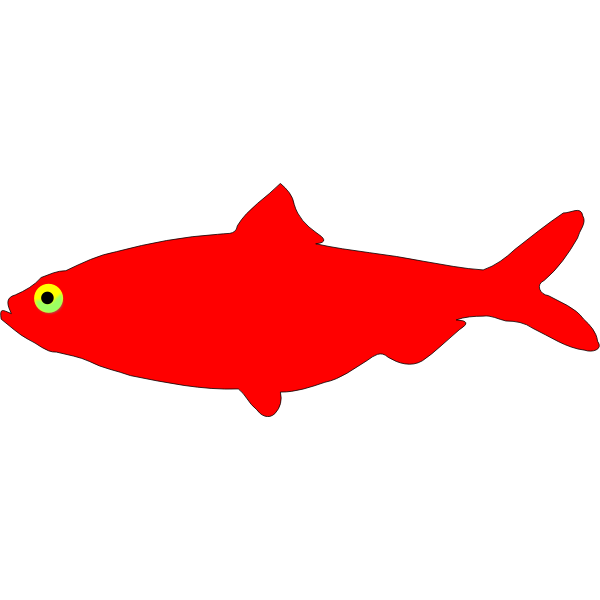 Red herring silhouette