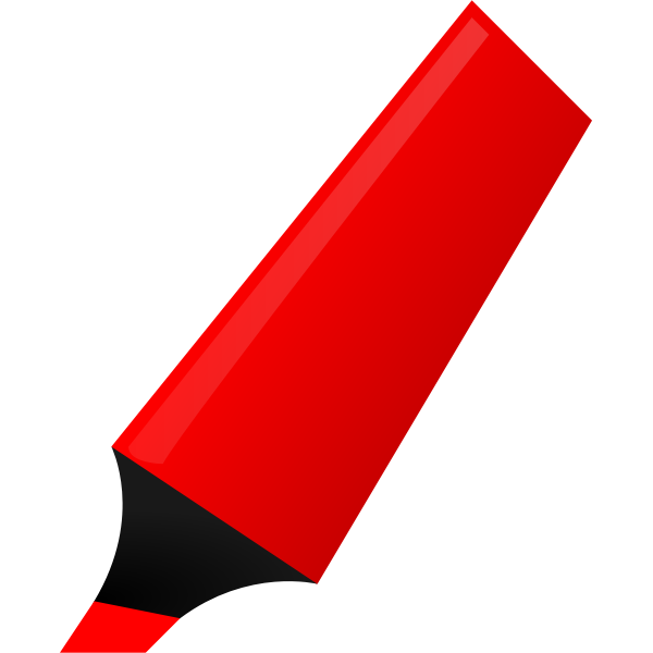 Vector image of red highlighter