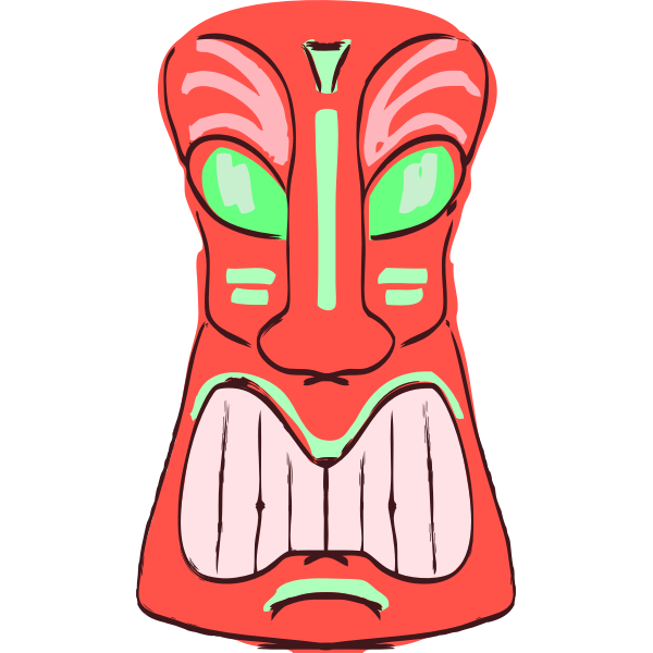 Red Tiki vector image