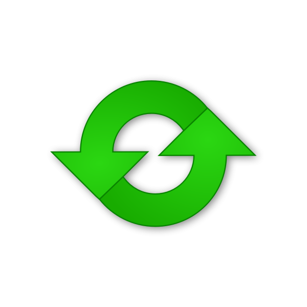 Vector drawing of green refresh icon