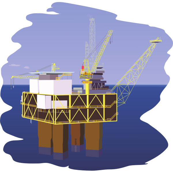 Oil rig vector graphics