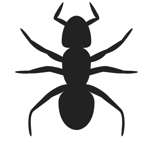 Ant vector silhouette
