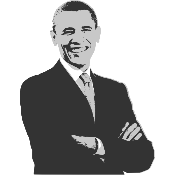 Barack Obama vector drawing