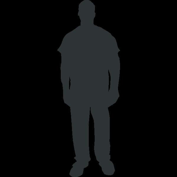 Man silhouette vector clip art