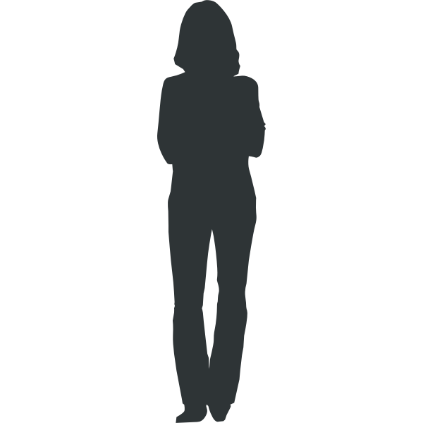 Woman silhouette vector graphics