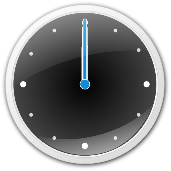 Vector image of analog clock