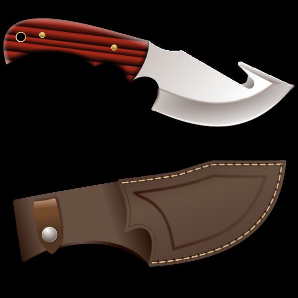 Hunter knife vector illustration.