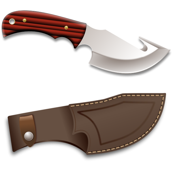 Hunter knife vector illustration.