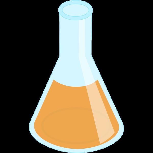 Erlenmeyer flask, full