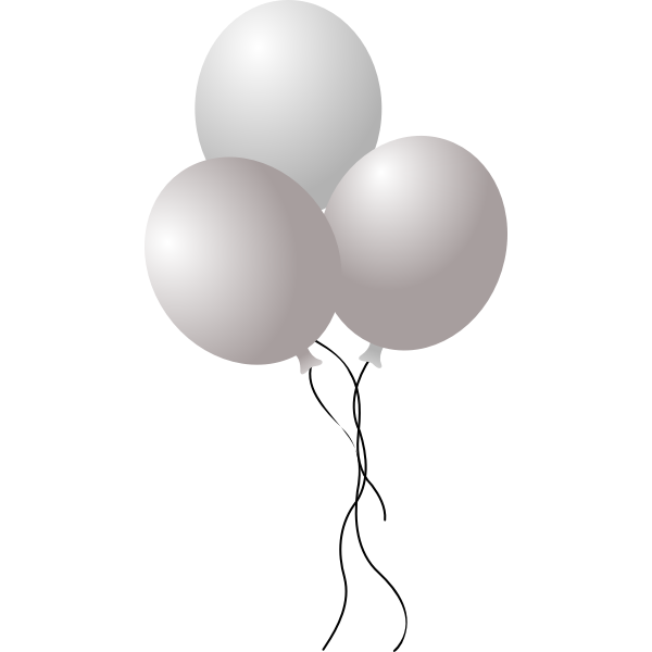 Vector illustration of three colorful balloons on strings