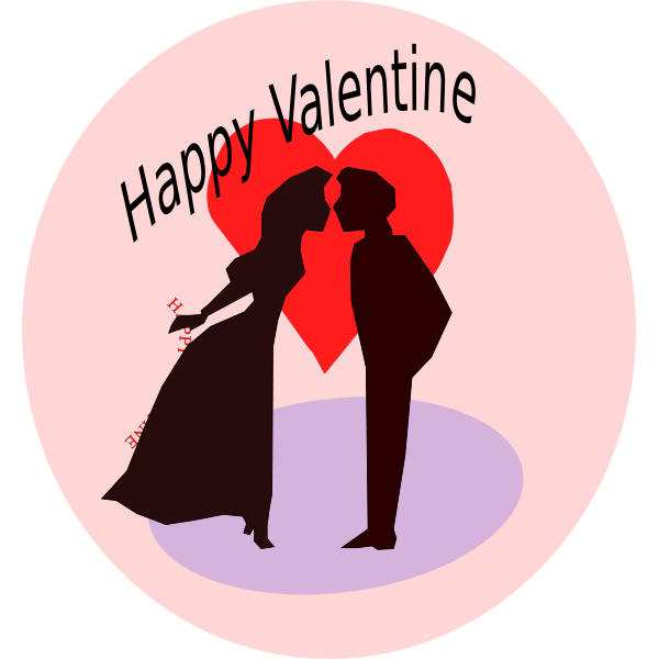 Happy Valentine vector illustration