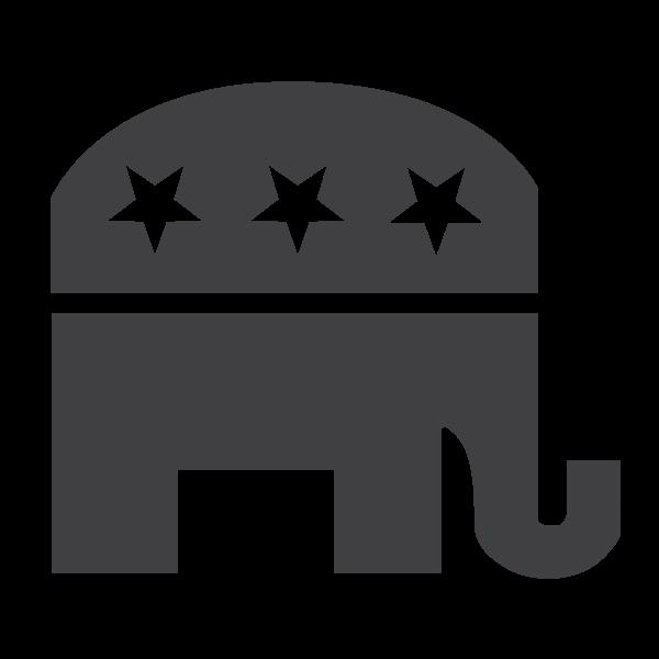 Republican symbol silhouette