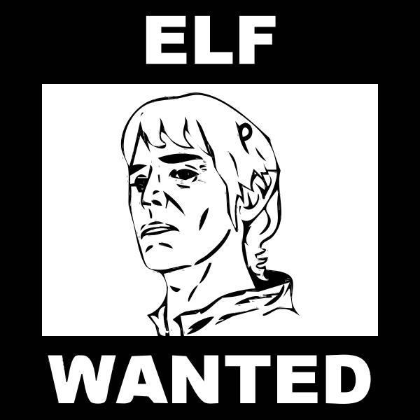 Elf wanted sketch