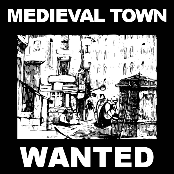 Medieval town image
