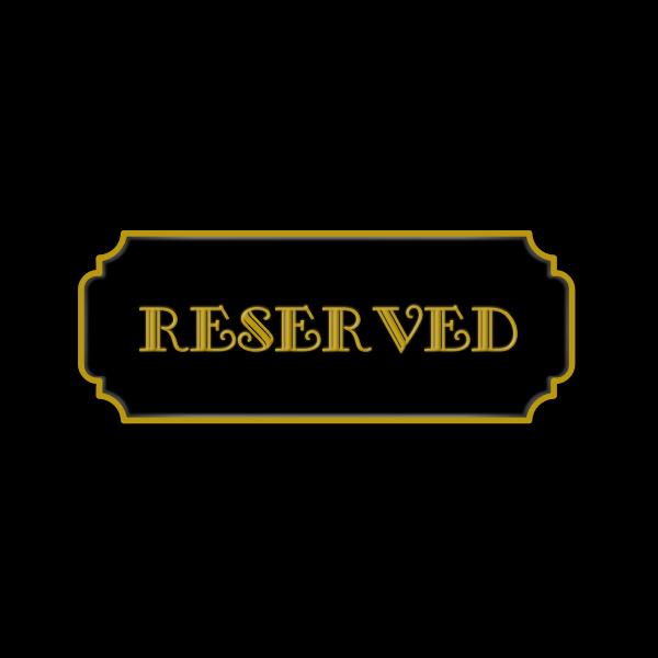 Vector graphics of reserved door sign