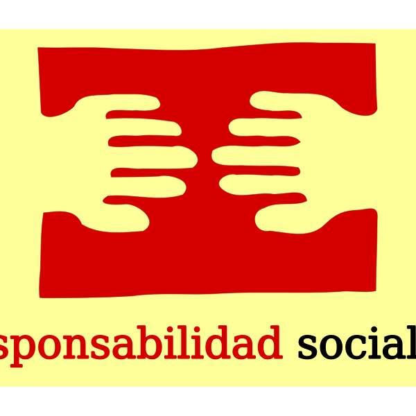 Responsabilidad social logo vector drawing