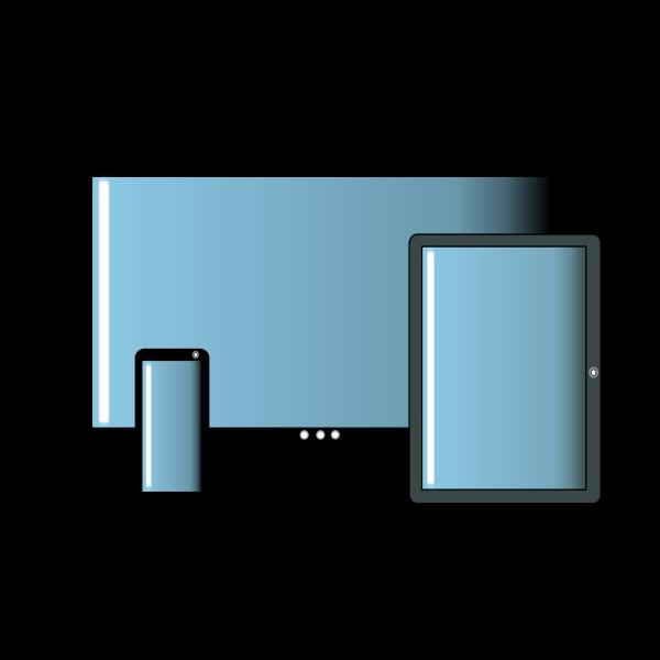 Multimedia sharing devices vector illustration