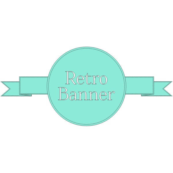 Retro Banner ribbon vector image