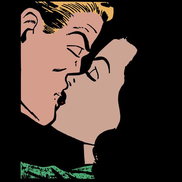 Comic kiss