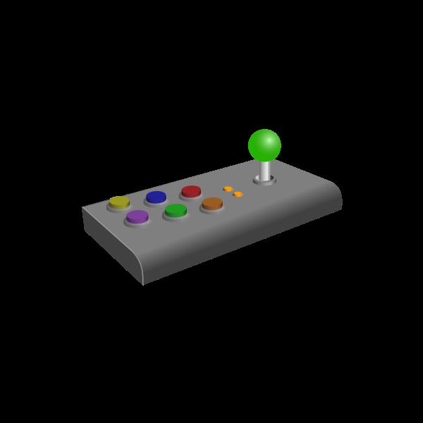 Arcade Turbo joystick vector clip art