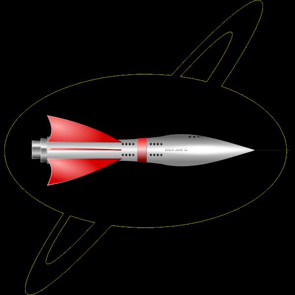 50s style color rocket ship vector image